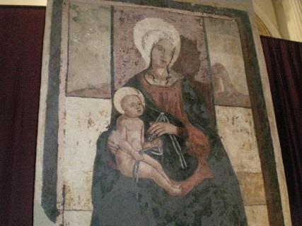 Scicli (RG) Affresco nel Convento S. Maria della Croce